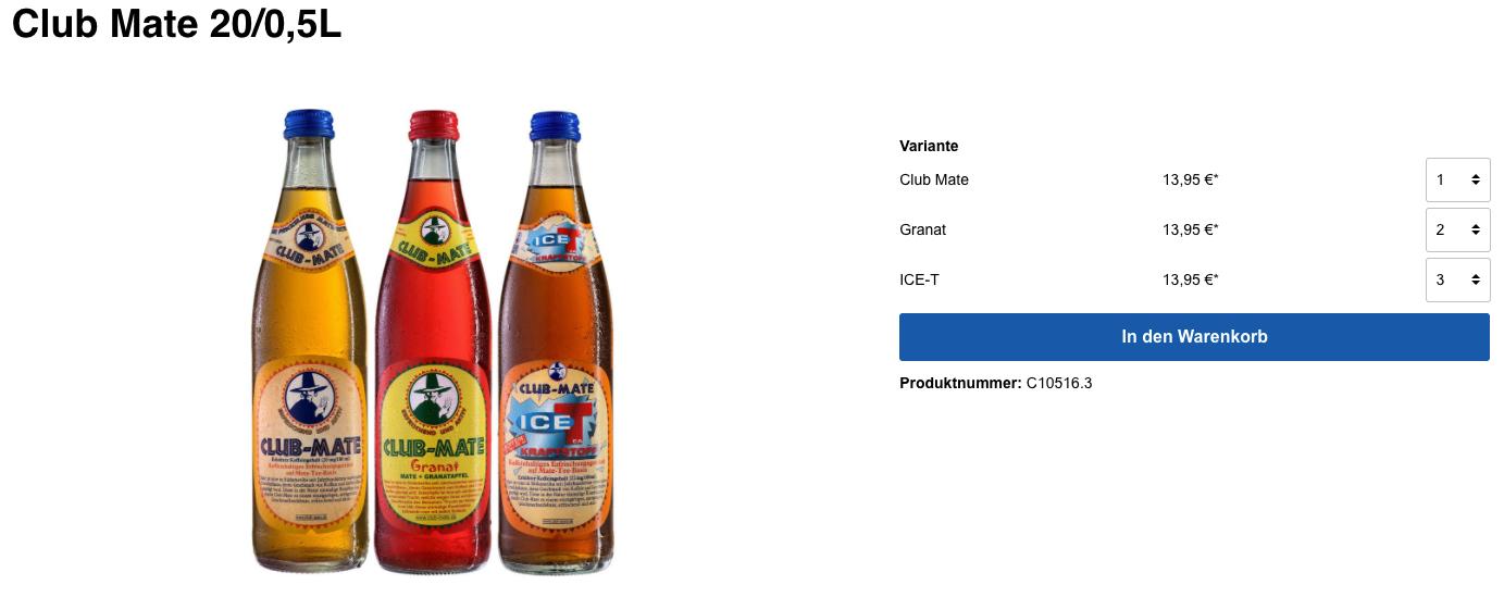 Konfiguration BuyProductVariants – Net Inventors GmbH